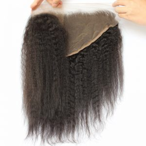 13X6 Lace Frontal Kinky Straight hair closure-Kinky-Straight-Ear-to-Ear