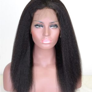360 Lace Frontal Kinky Straight Hair