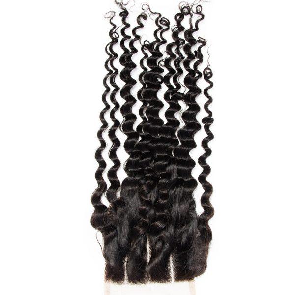 4x4 lace closure deep curly hair