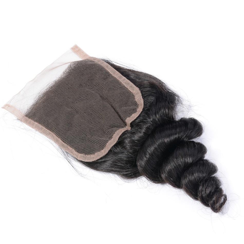 4x4 Lace Closure Loose Wave Hair Free Part Lace Closure