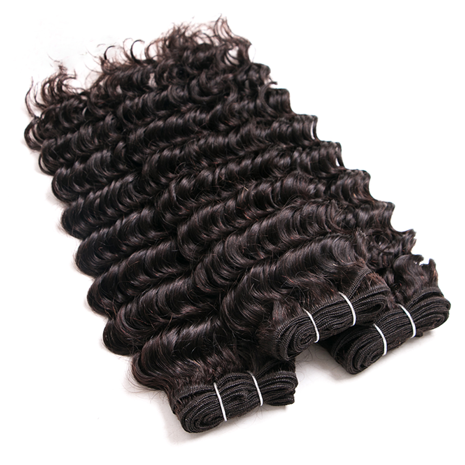 3 Bundles Deep Wave Hair Extensions 3 Bundles Human