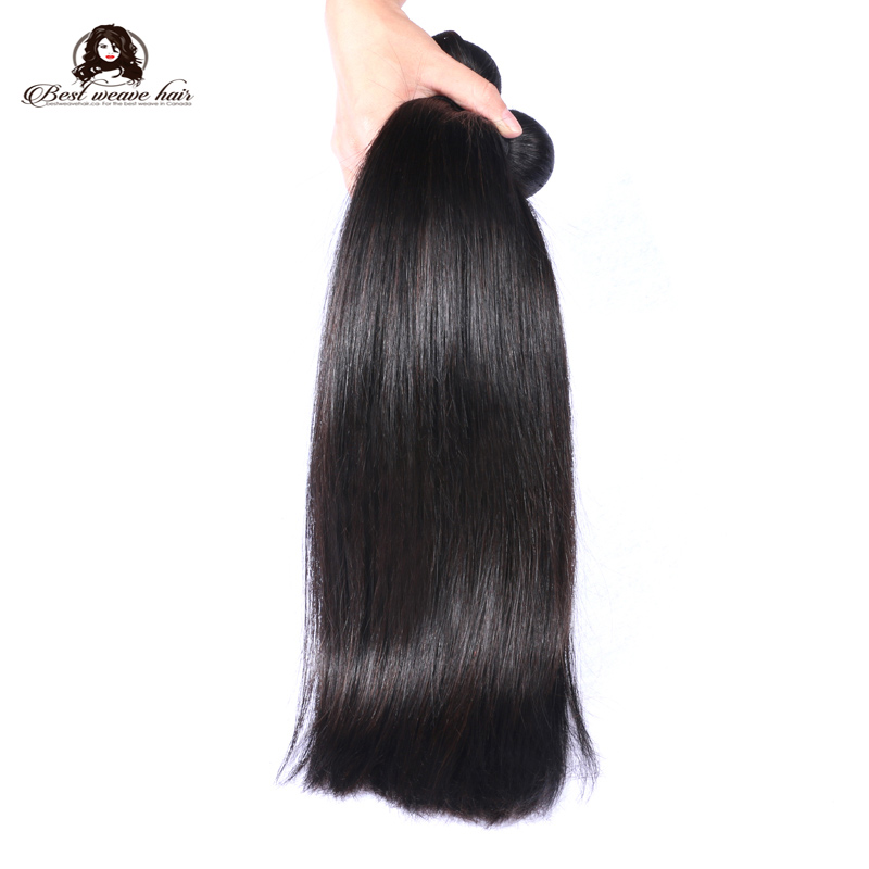 3 Pcs Bundles Virgin Hair Weave Natural Color Silky Straight