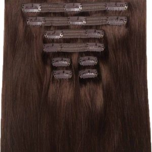 120g-Chocolate-Brown-Clip-In-Human-Hair-Extension