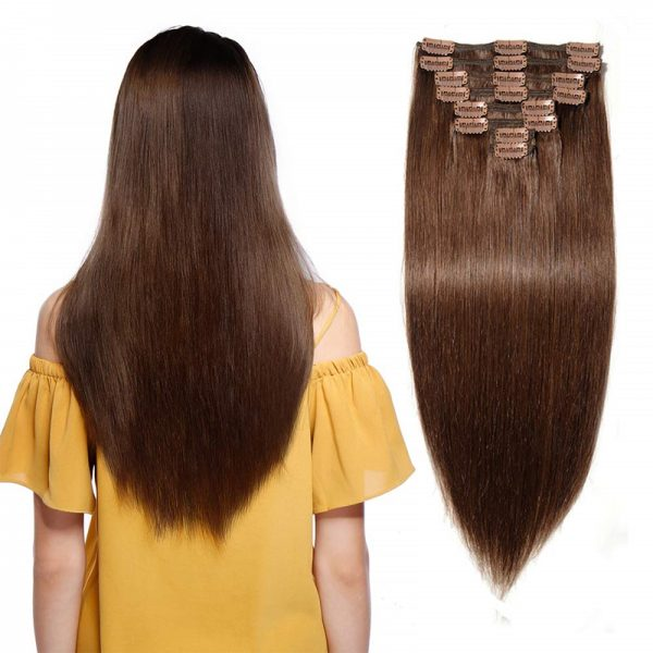 Brown-CLip-Ins-Human-Hair